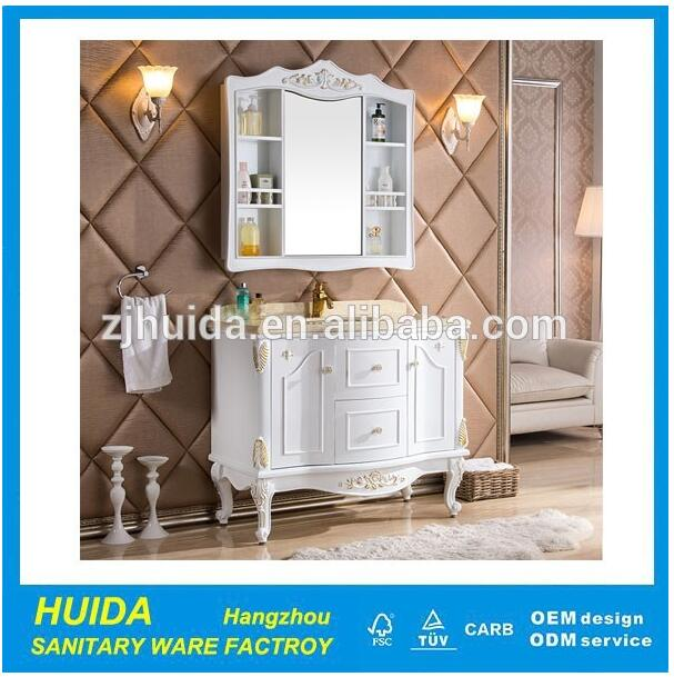luxurious vanity products sanitary ware manufacturer marble mirror cabinet with hinge homeuse furnit