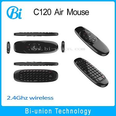 Original 2.4GHz G Mouse C120 Air Mouse Wireless Air Fly Mouse Keyboard for Android TV Box