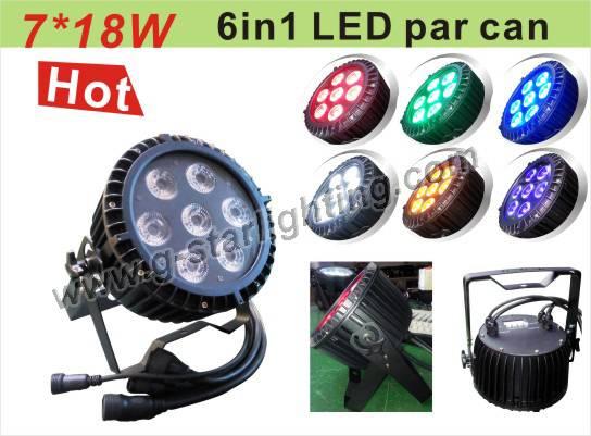 mini led waterproof par can light/outdoor led par light