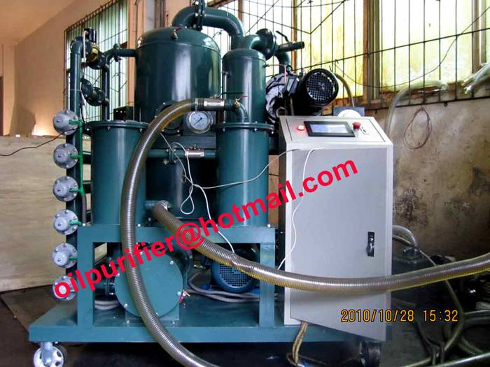 transformer oil purification plant,Cable Oil Vacuum Dehydrator for Power Station removing water and