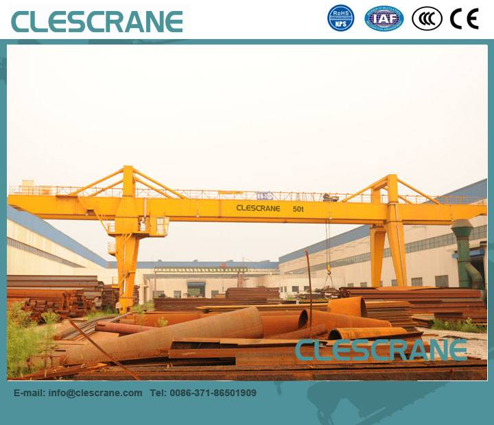 CWG Series Improved 5-320 Ton Electric Double Girder A-Frame Gantry Crane Price With Electric Open W