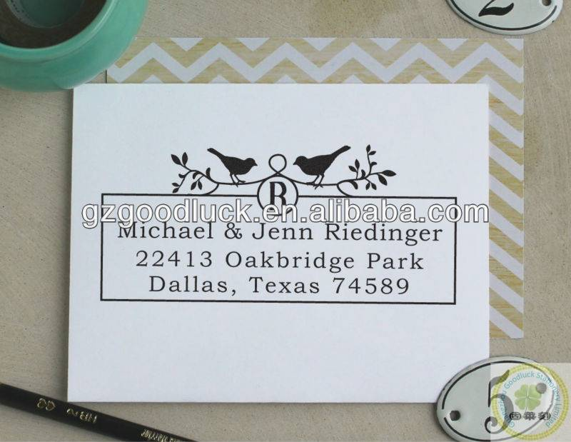 Custom mini personalized address plastic stamp /Custom mini personalized address rubber stamp
