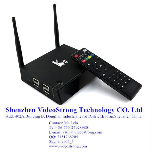 Newest KII 2G/8G Amlogic S812 smart tv box preinstall kodi 14.2 H.265 BT 4.0 Android 5.1 TV box