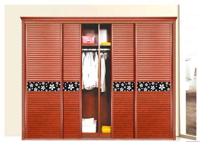 Full Aluminum furniture Aluminum wood color garderobe