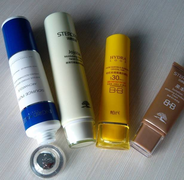 manufacture  plastic Kosmetik tube packing with arcylic