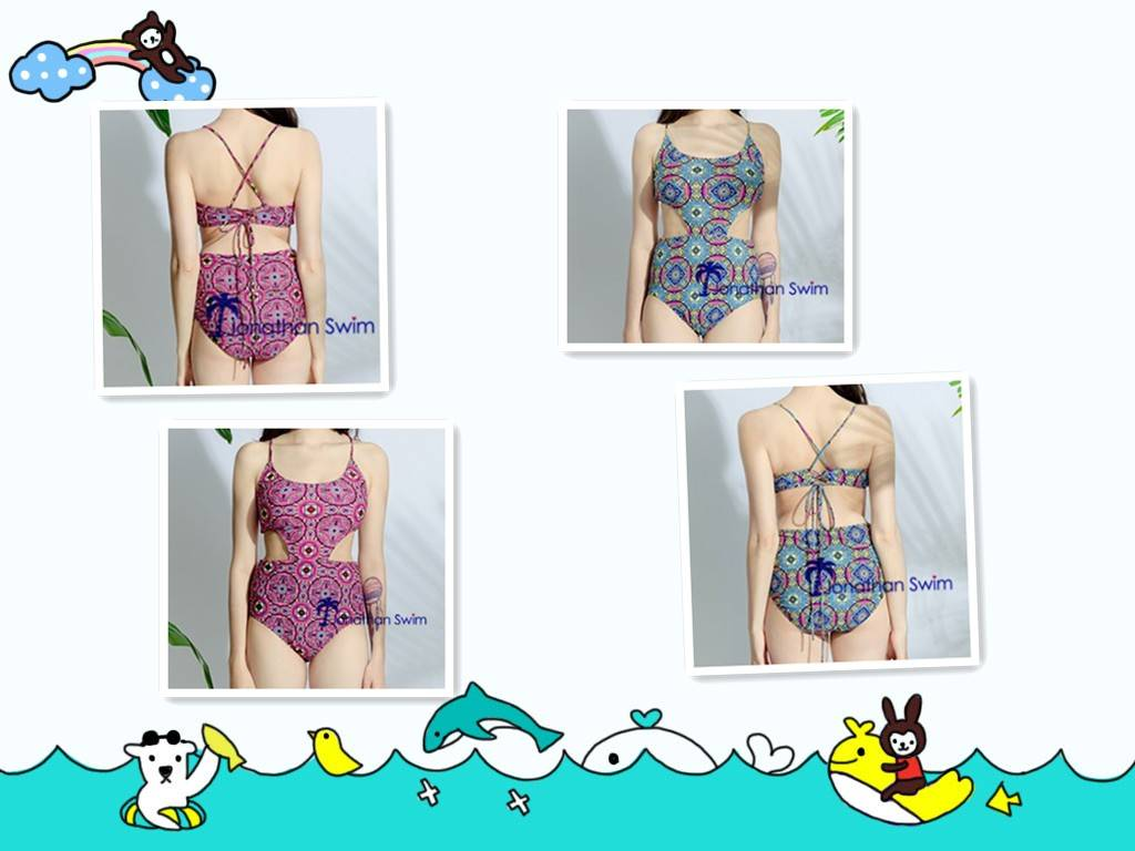 Women's sexy hollow out one piece swimsuits.