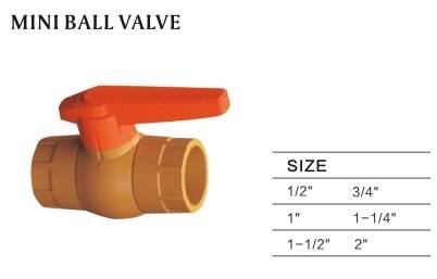 mini ball valve plastic