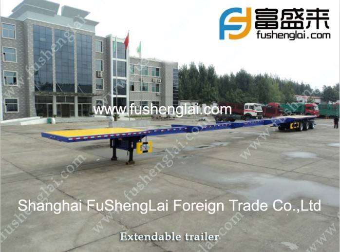 Extending a trailer, Extendable drop deck trailers for sale, Stretch flatbed trailer