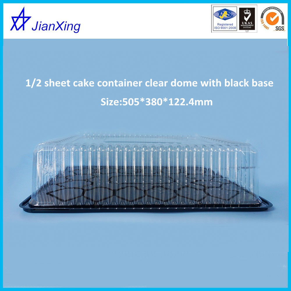 1/2 plastic sheet cake rectangle container