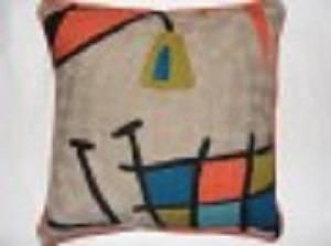 Crewel Chainstitch Pillow Muguets Un Lac Multi Cotton (20x20)