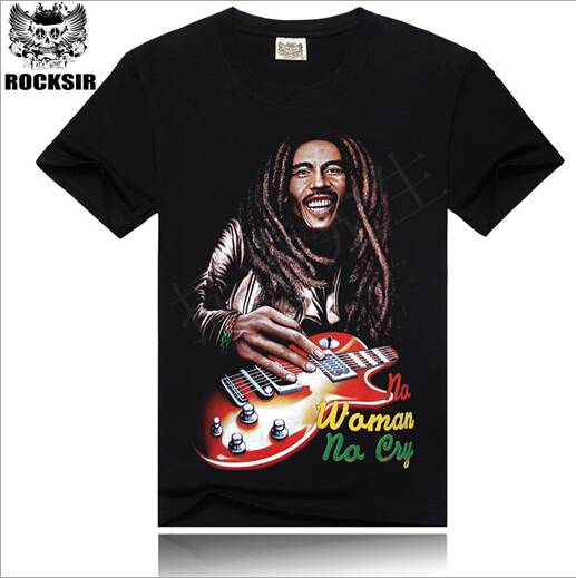 In 2015, the new European and American pop music avatar 3 d printing T-shirt
