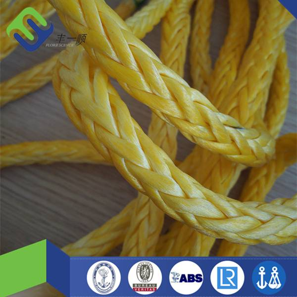 10mm/12mm uhmwpe braided rope with weter resistance