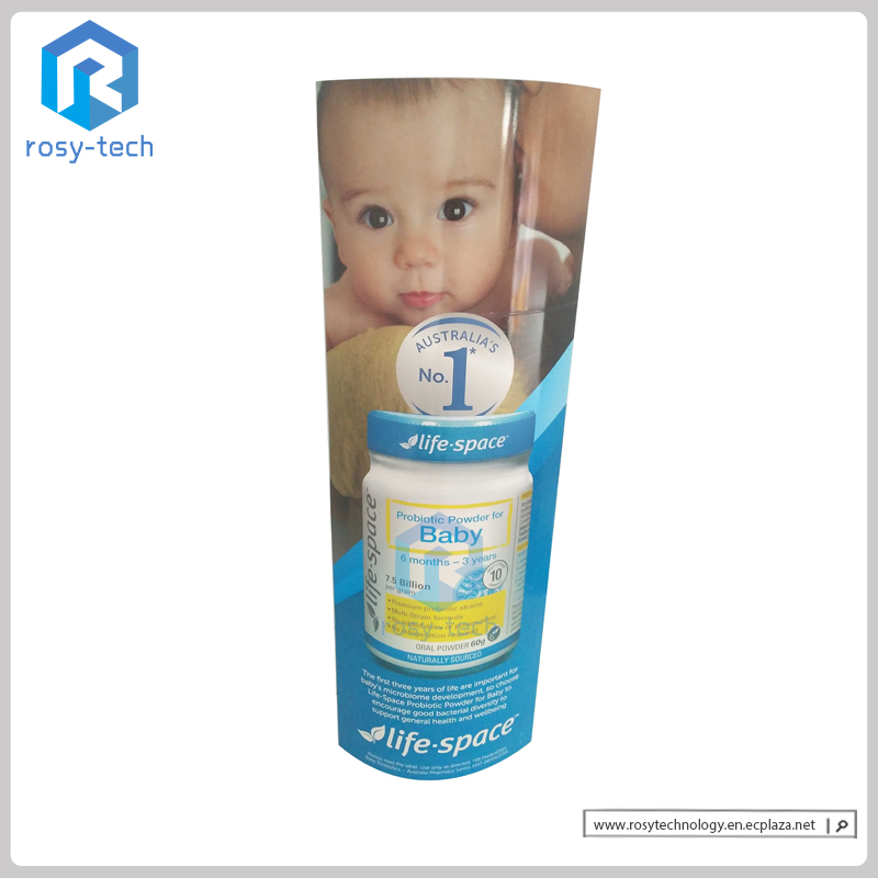 Good Quality Easy Carry Folding Paper Cardboard Standee Totem Display Stand, Lama Display Standee