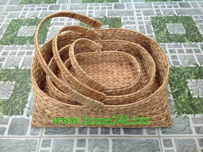 New product Water Hyacinth Woven Baskets Laundry