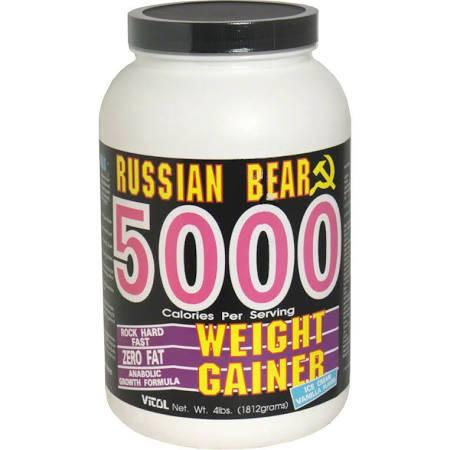 Russian Bear Dietary Supplement, Russian Bear Weight Gainer, Ice Cream Vanilla Flavor - 4 lbs (1812g