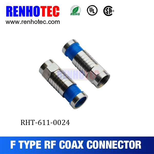 75 Ohm RG59/RG6 Compression RF Connector/F Connector
