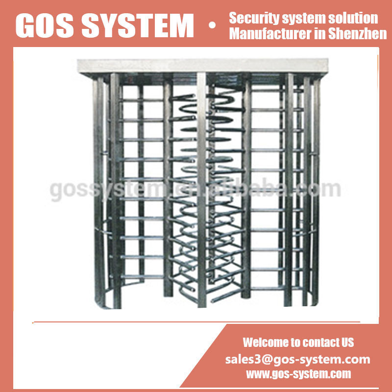 Stainless Steel Full Height Turnstile with Double Gates