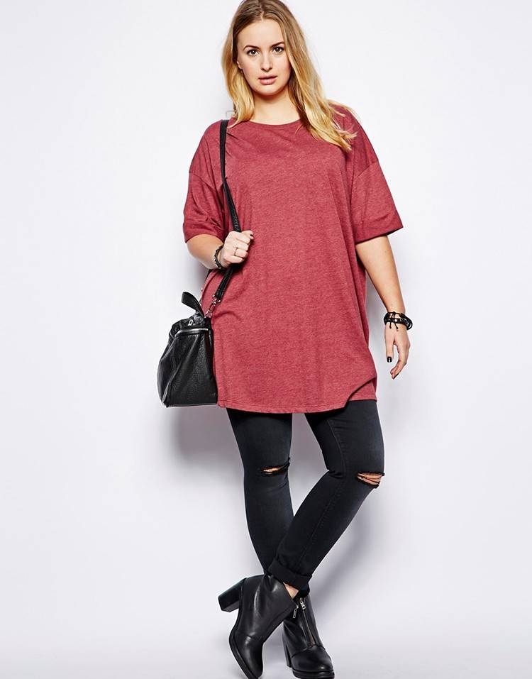 wholesale womens oversized blank loose long t shirts