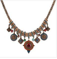Wholesale Fashion Vintage Necklace Alloy Exaggerate Jewelry for women