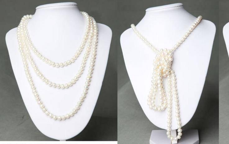 8-9mm made-to-order 160cm lengthen Around three times sweater  pearl necklace