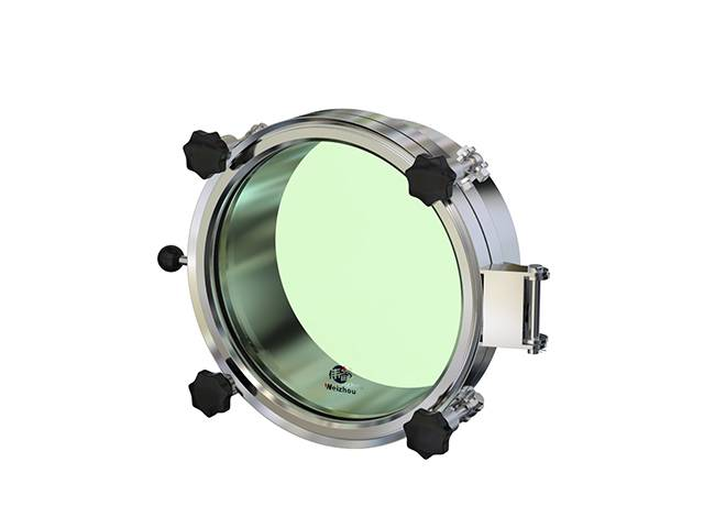 Hygienic tank manhole cover Round pressure manway with full sight glass
