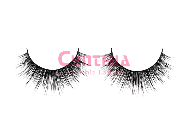100% Real Siberian Mink False Eyelashes Thick Fake Faux Eyelashes