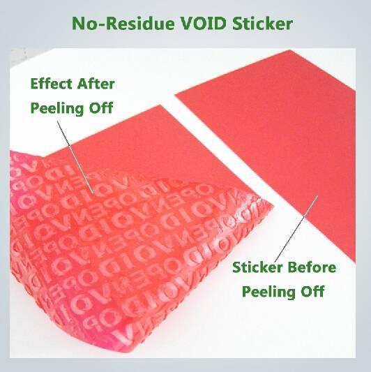 tamper evident void seal labels