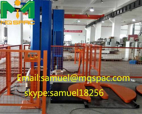 MQSPAC Semi-auto stretch pallet wrapper with M type