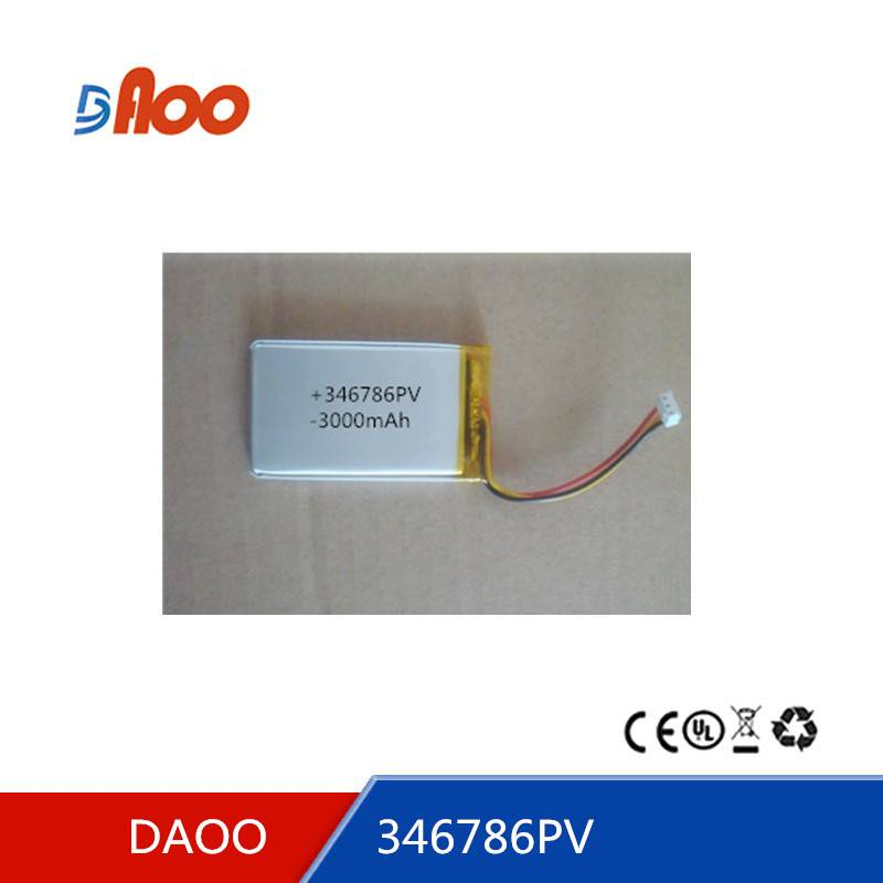 346789PV  Li-polymer battery pack  3000mAh rechargeable battery