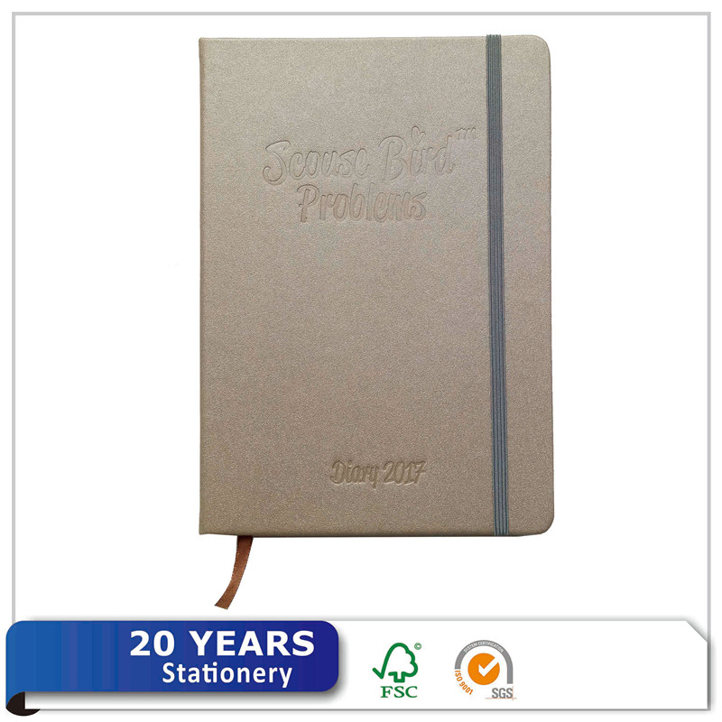 China Supplier Wholesale Office School PU Leather Dairy Notebook