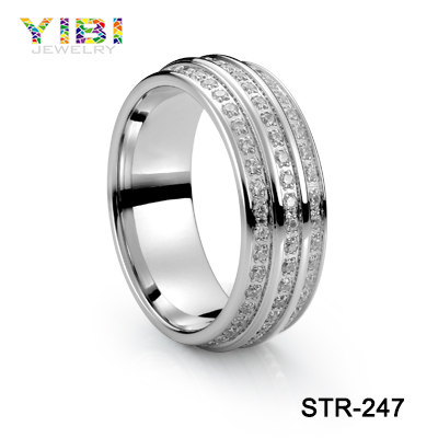 Supplier Minimalist Jewelry Stainless Steel Diamond Ring For Wedding And Engaged