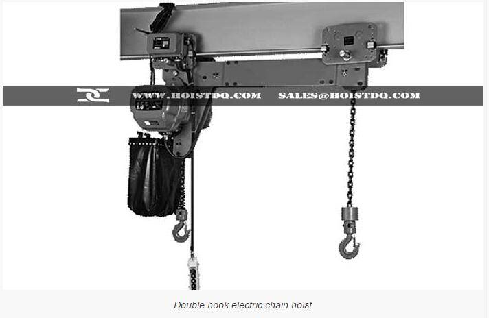 Double hook electric chain hoist for long loads handling | Dongqi double hook electric chain hoist