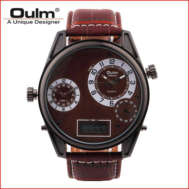 Hot sale Oulm brand quartz men watch HP3581