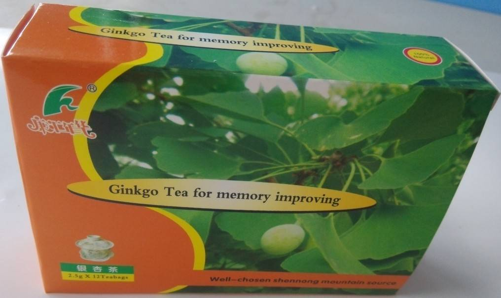 Ginkgo tea for memory improving