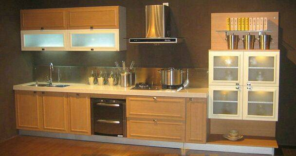 Hot Sell for Simple Design Wooden Modern Kitchen Cabinets