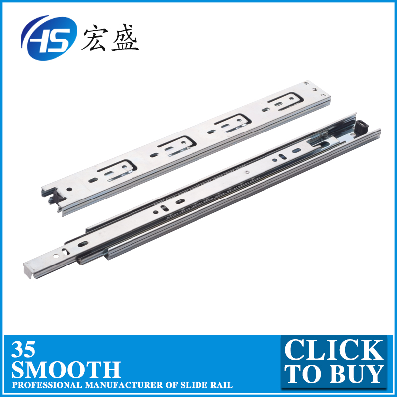 3-fold ball bearing drawer slide