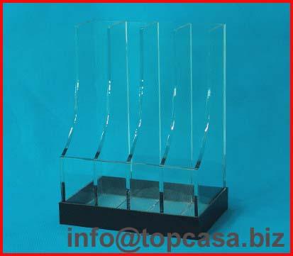 Acrylic display racks stand