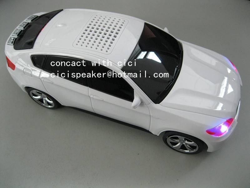 mini car speaker portable wireless speaker with FM Radio MP3 player loudspeaker music speaker