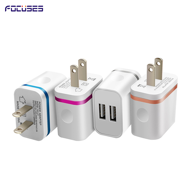 Focuses- Premium 5V/1A Dual USB Wall Charger|apple wall charger