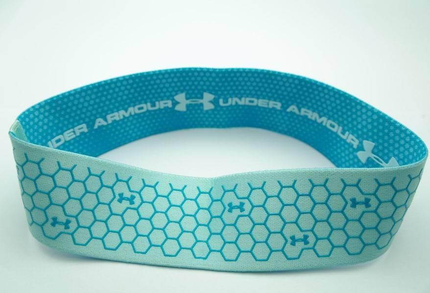 Running no slip logo customed elastic stretch sport headband with silicone strip