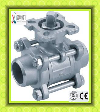 Q61F-16P 1000WOG 3 PC type welded ball valve
