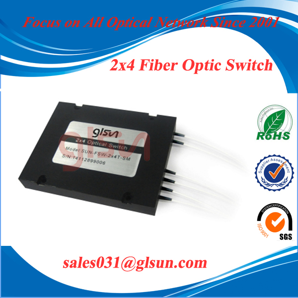 2x4 Cascade Fiber Optical Switch
