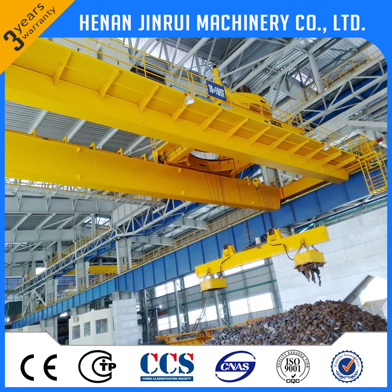 Steel Scrap Plate Electric Lifting Magnetic Overhead EOT Crane Price