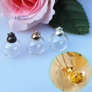 Hand Blown Globe Clear Hollow Jewelry Round Crystal Glass Ball Covers Spheres Necklace Pendant Hemis