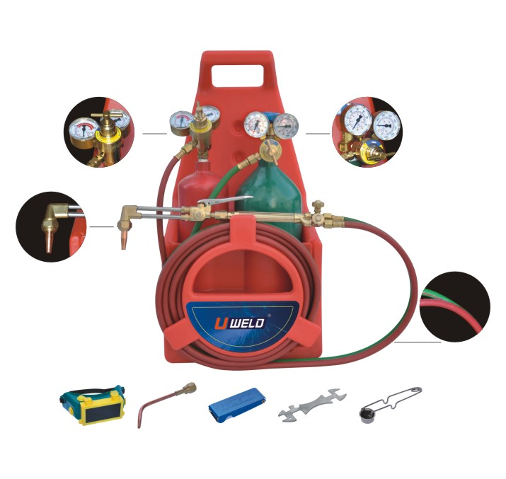 Welding cutting kit with cylinder 2L and 4L