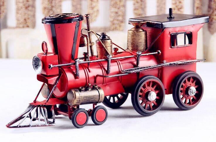 handmade metal train model
