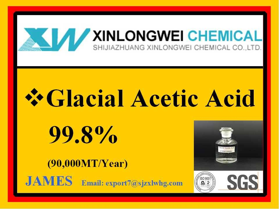 Industrial food oil mining metal textile dye fertilizer low price Glacial Acetic Acid CH3COOH 99.8%