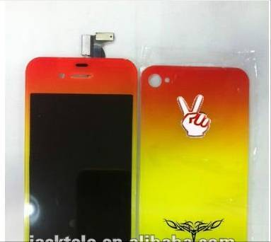Wholsale for iphone 4 colors LCD touch screen display  assembly