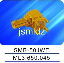 SMB male connector ,right angle,50ohm impedence,mounted on pcb