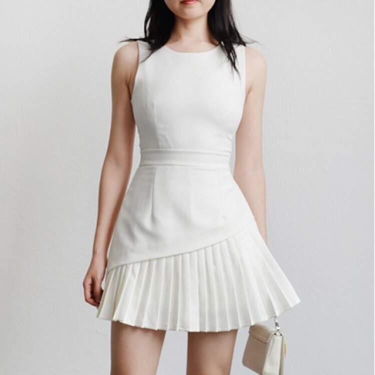 Basic Loose Midi Dress (WHITE)